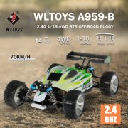 Best Electric Rc Trucks - WLtoys A959-B 2.4G 1/18 4WD 70KM/h High Speed Review