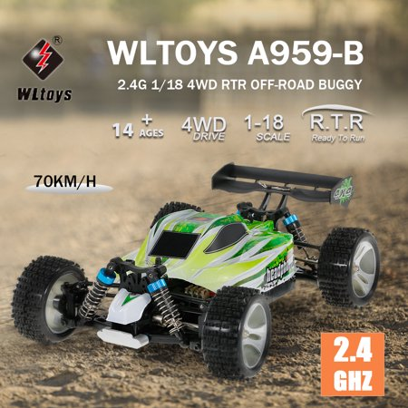 WLtoys A959-B 2.4G 1/18 4WD 70KM/h High Speed Electric 2.4Ghz Off Road RC Truck RTR RC Car 4wd Off Road Truck