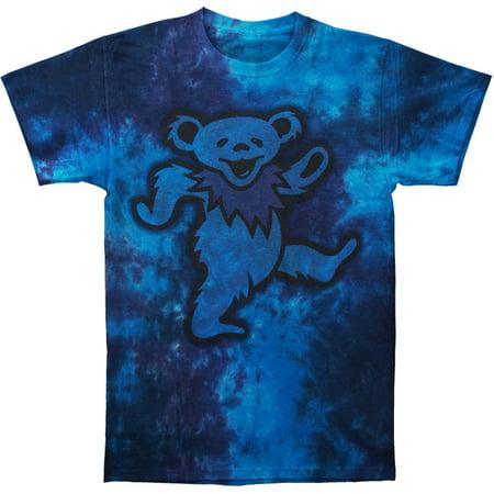 Grateful Dead Mens  Big Bear Tie Dye T Shirt Blue