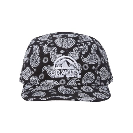 Logo Paisley Adjustable Five Panel Hat (5 Panel Skateboard Hats)