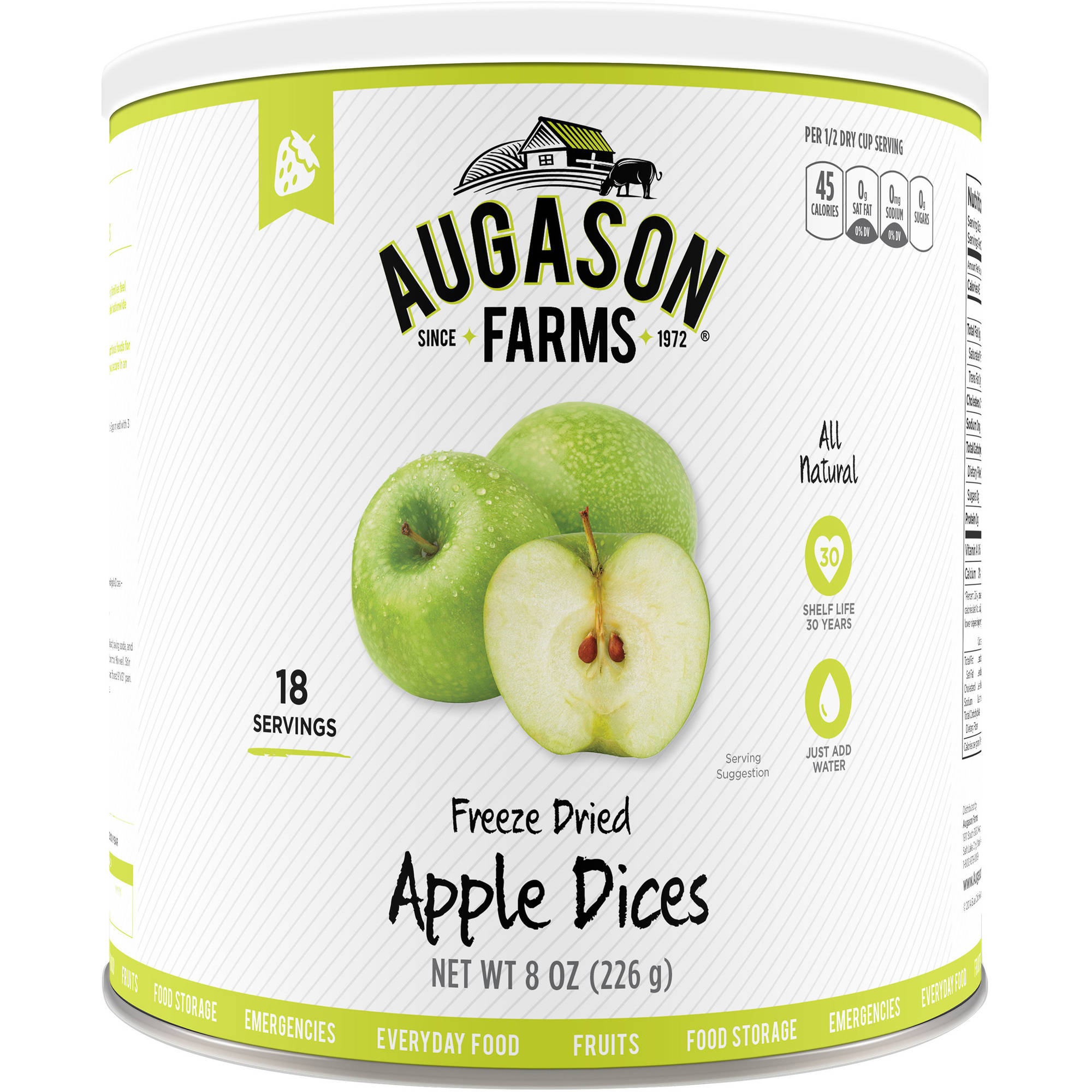 Augason Farms Freeze Dried Apple Dices, 8 oz by Blue Chip Group