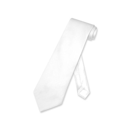 - Biagio 100% SILK NeckTie Solid WHITE Color Men's Neck Tie