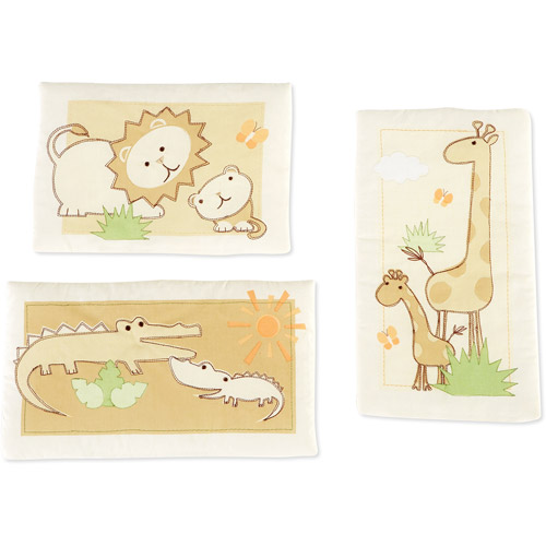 Summer Infant Safari Adventures Organic Set of 3 Wall Hangings by Summer Infant