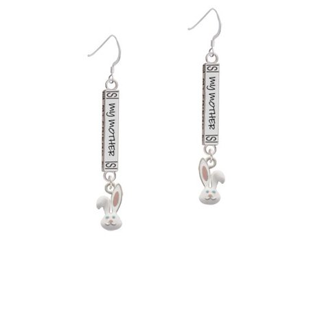 Bunny Face - Always My Mother Bar French Earring - Bunny French