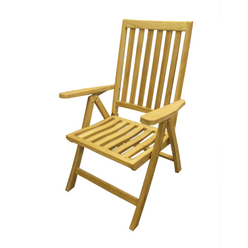 D-Art Collection Folding Teak Patio Dining Chair