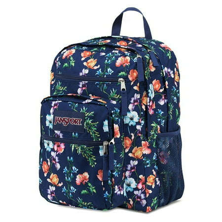 JanSport - Big Student Navy Floral Backpack Bag School Book Storage  Authentic - Walmart.com d5eb93ff9cd51