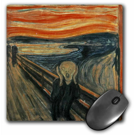 3dRose The Scream Painting By Edvard Munch, Mouse Pad, 8 by 8 inches Munch Art Mouse Pad