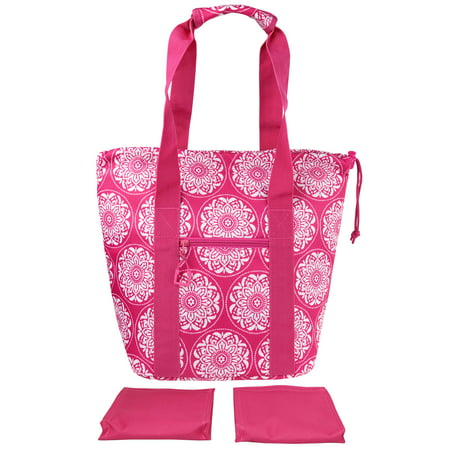 Mainstays Cinch Top Lunch Kit with 2 Matching Ice Packs, Pink