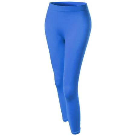 FashionOutfit Women's Basic Solid 3/4 Footless Leggings
