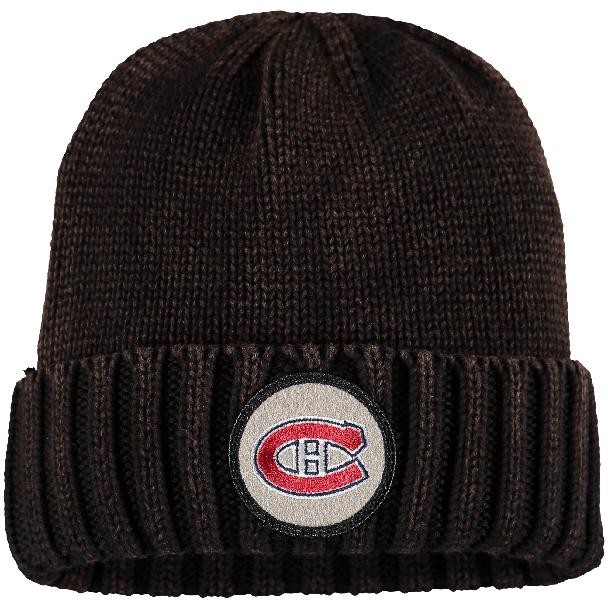 Montreal Canadiens Mitchell & Ness Vintage Ribbed Cuffed Knit Hat - Brown - OSFA