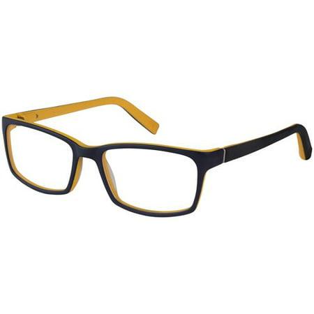 Nerf Recon Men\'s Eyeglass Frames--Navy & Yellow - Walmart.com