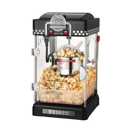 Great Northern Black Little Bambino Table-Top Retro Machine Popcorn Popper, 2.5 Ounce