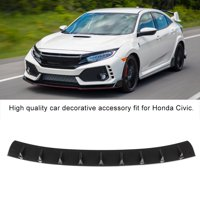 YLSHRF Carbon Fiber Texture Car Rear Roof Trunk Spoiler Wing Lip Fit for Honda Civic 16-18, Rear Wing Lip Spoiler,Rear Trunk Spoiler