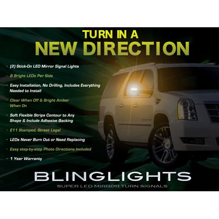 Cadillac Escalade LED Side View Mirror Turnsignals Lights Turn Signals Lamps Mirrors Signalers LEDs (Landrover Side Mirror Lr3)