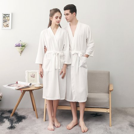 Assassin Robes For Sale (Uarter Men Women Robe Waffle Weave Bathrobe Couple Bath Robes Practical Night-robe for Spring and Summer, White,)