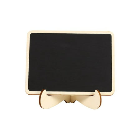 10pcs Mini Wood Message Blackboard Message Label Chalk Board Wedding With Stand Holder Clip - Mini Boards
