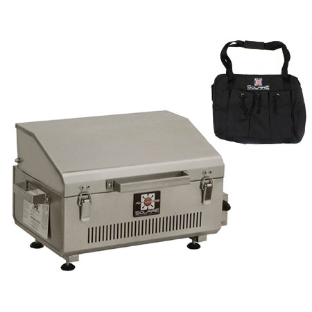 Solaire Anywhere Portable Infrared Propane Gas Grill, Stainless Steel With Free Carrying Bag