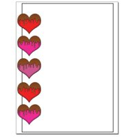 Chocolate Covered Hearts Letterhead Printer Paper, 80 Sheets