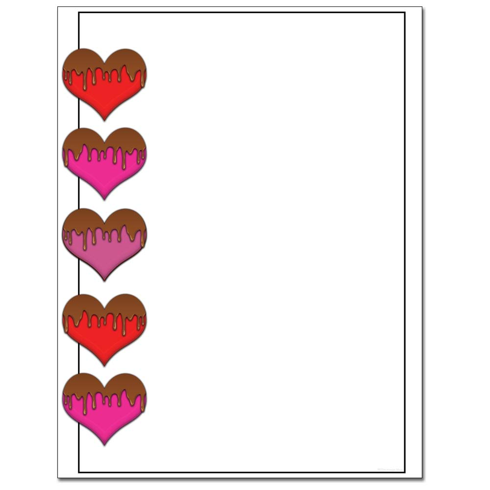 Chocolate Covered Hearts Letterhead Laser & Inkjet Printer Paper