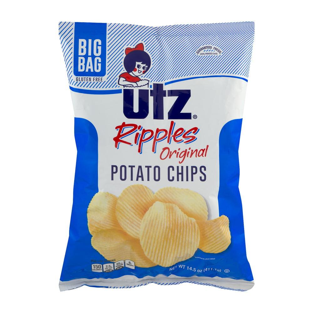 Utz Ripples Potato Chips, 14.5 Oz.