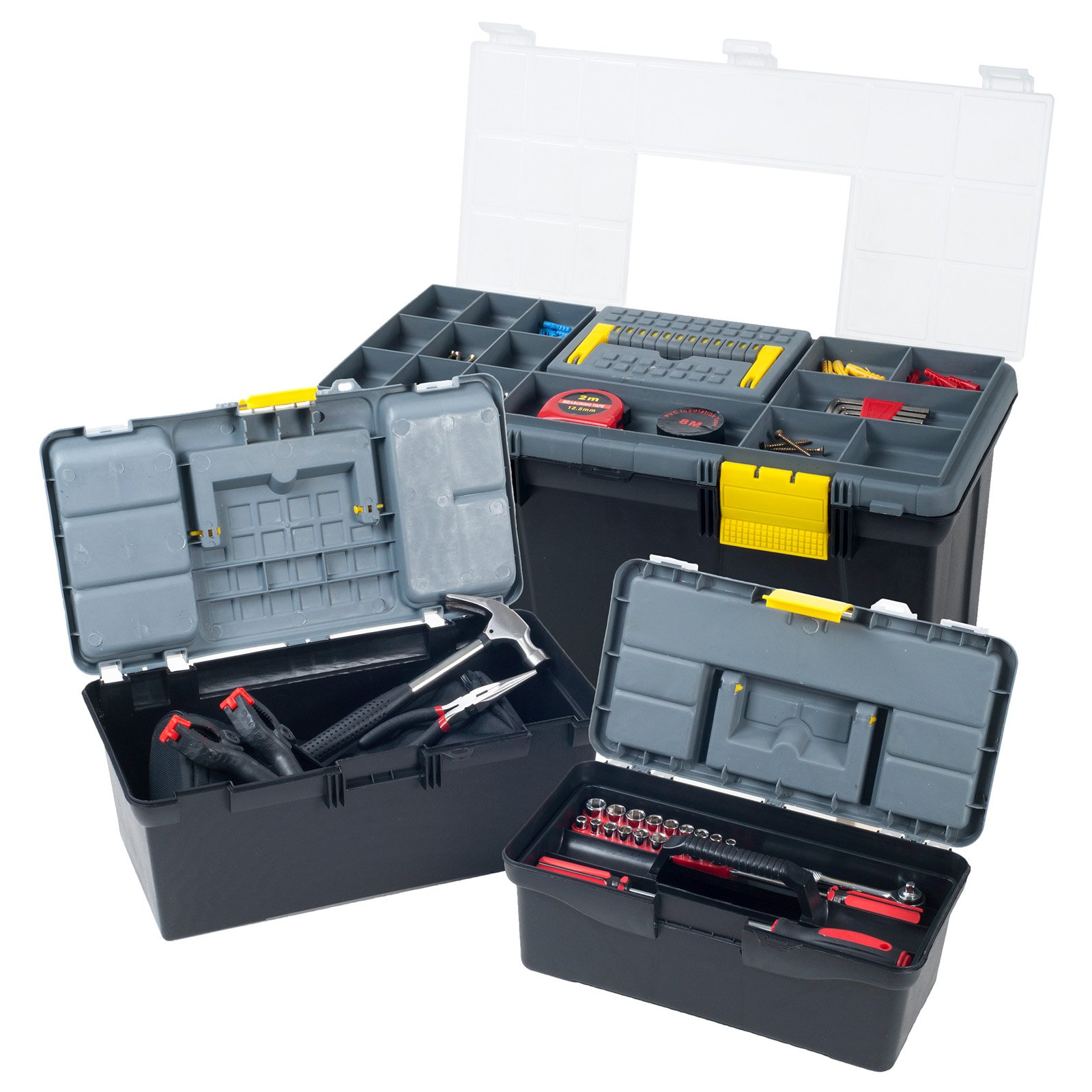 Stalwart Parts & Crafts 3-in-1 Tool Box Storage Set by Trademark Global LLC