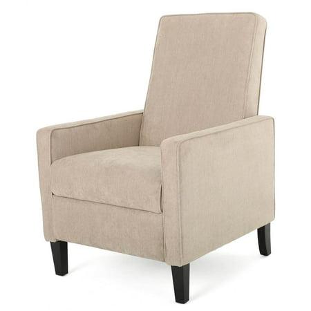 Recliner Club Chair in Natural Linen
