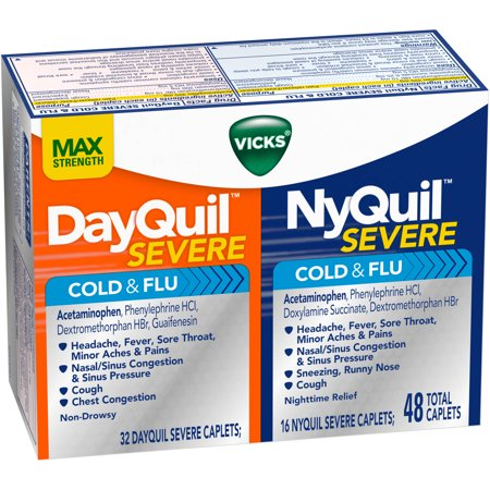 Vicks DayQuil & NyQuil sévère rhume et grippe Caplets Combo Pack, 48 count