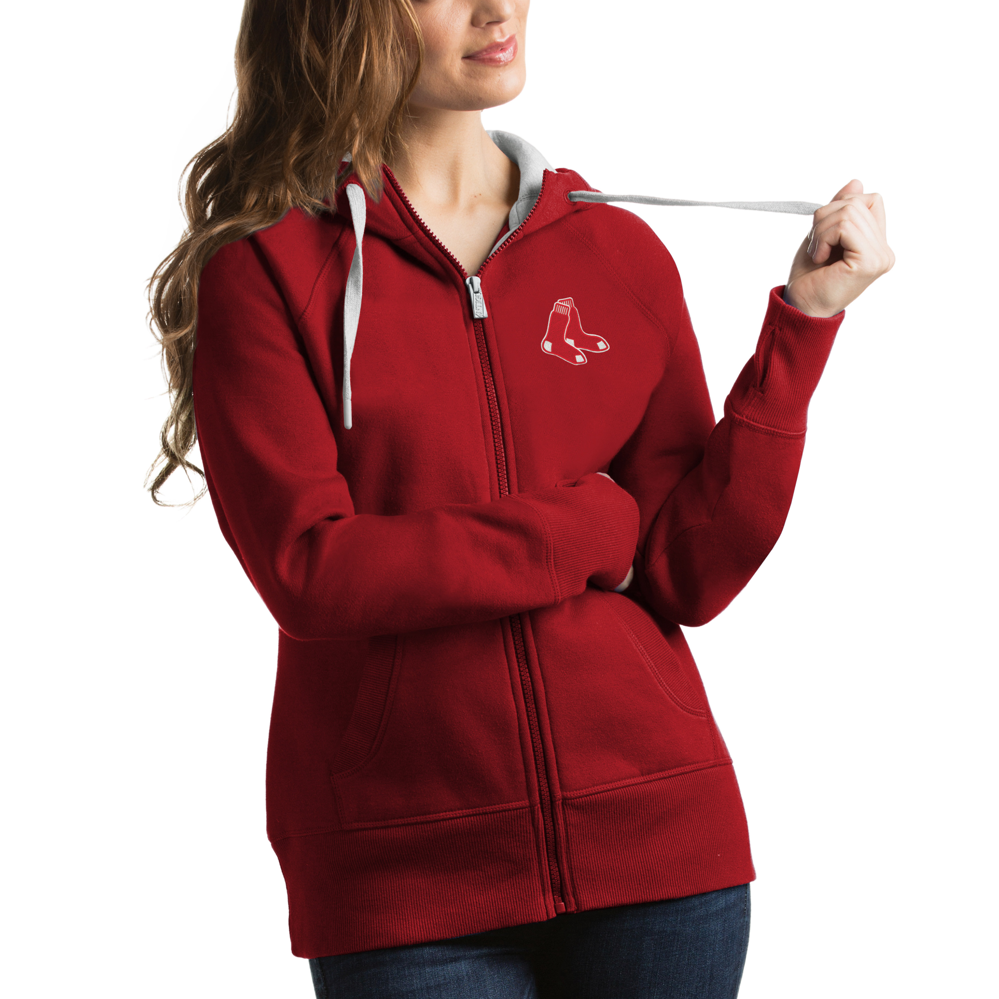 Boston Red Sox Antigua Women's Victory Full-Zip Hoodie - Red
