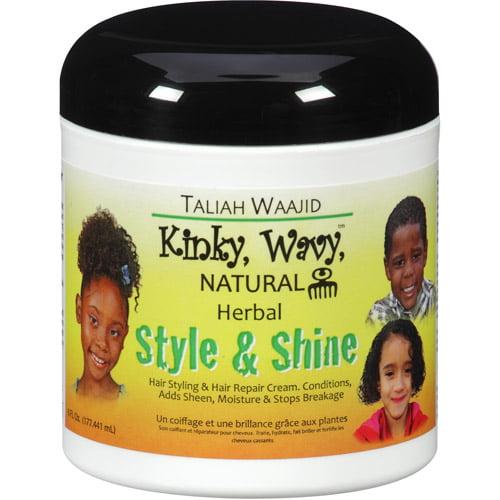 Taliah Waajid Kinky, Wavy, Natural Herbal Style & Shine Hair Styling & Repair Cream, 6 fl oz