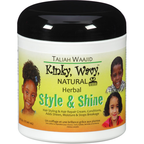 Taliah Waajid Kinky, Wavy, Natural Herbal Style & Shine Hair Styling & Repair Cream, 6 fl oz