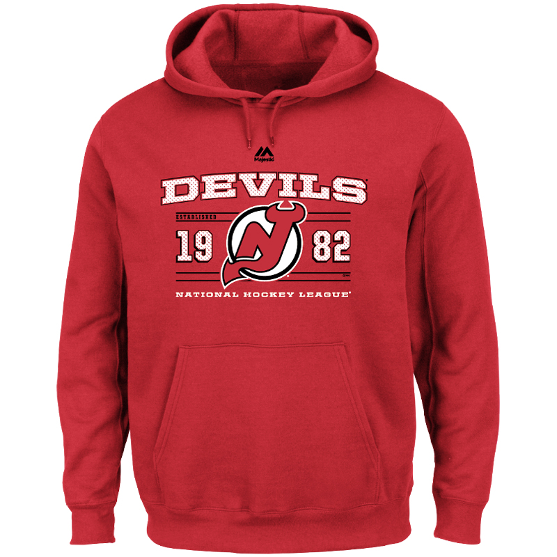 New Jersey Devils Majestic Winning Boost Pullover Hoodie - Red