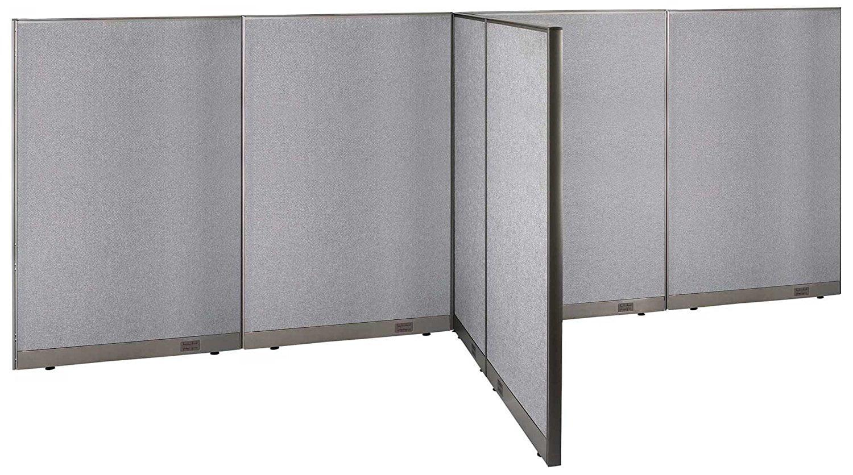 GOF T Shaped Freestanding Partition 66d X 192w X 72h / Office, Room Divider    Walmart.com