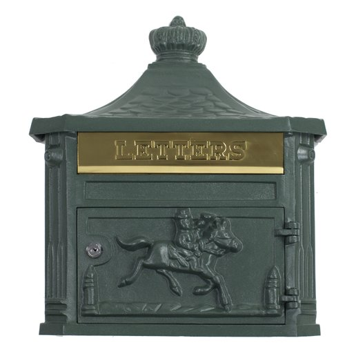 Amco Mailboxes Victorian Locking Wall Mounted Mailbox by