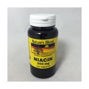 Nature's Blend Niacin 500mg Tablets, 100ct