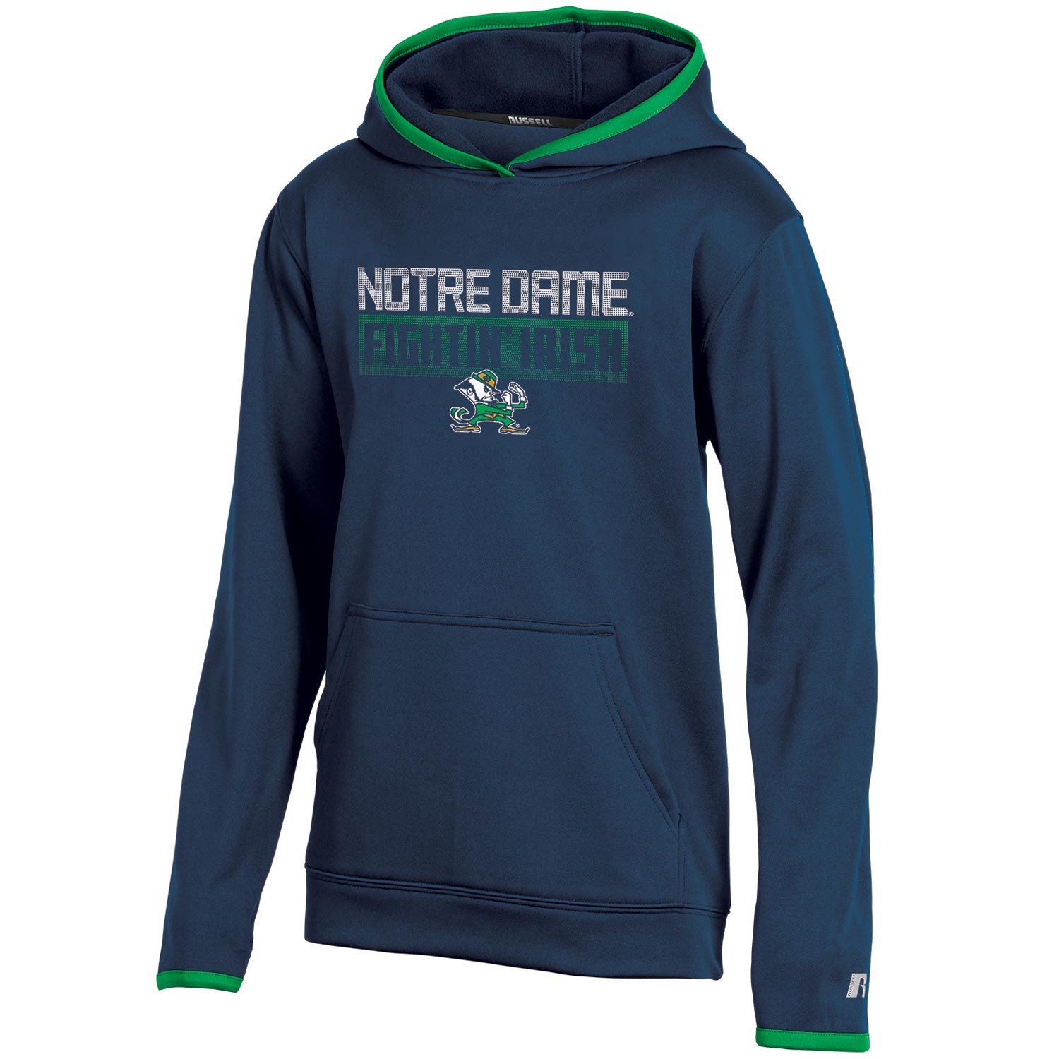 Youth Russell Navy Notre Dame Fighting Irish Pullover Hoodie
