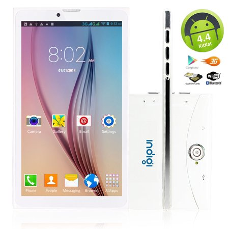 Indigi® 7inch Factory Unlocked 3G Smart Phone 2-in-1 Phablet Android 6.0 Tablet PC w/ Built-in Smart Cover (White) - image 4 of 5