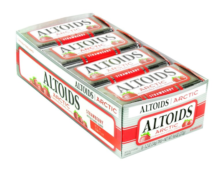 Altoids Arctic Curiously Cool Mints Strawberry 8 Count by