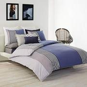 Lacoste Meribel Cotton Bedding Set, King Duvet, Blue/White