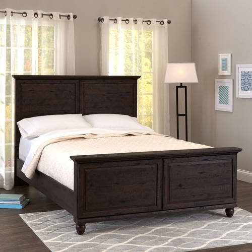 better homes and gardens crossmill queen bed heritage walnut finish rh walmart com