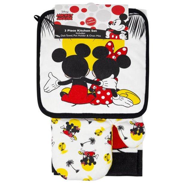 Disney 49220 Disney Mickey Minnie Mouse Sunset Kitchen Towel Set 3 Piece Walmart Com Walmart Com