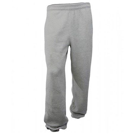 Soffe 7042002LRG Adults 7.5 oz Fleece Cotton Poly Pocket Sweatpant, Oxford - Large Soffe Fleece Sweatpants