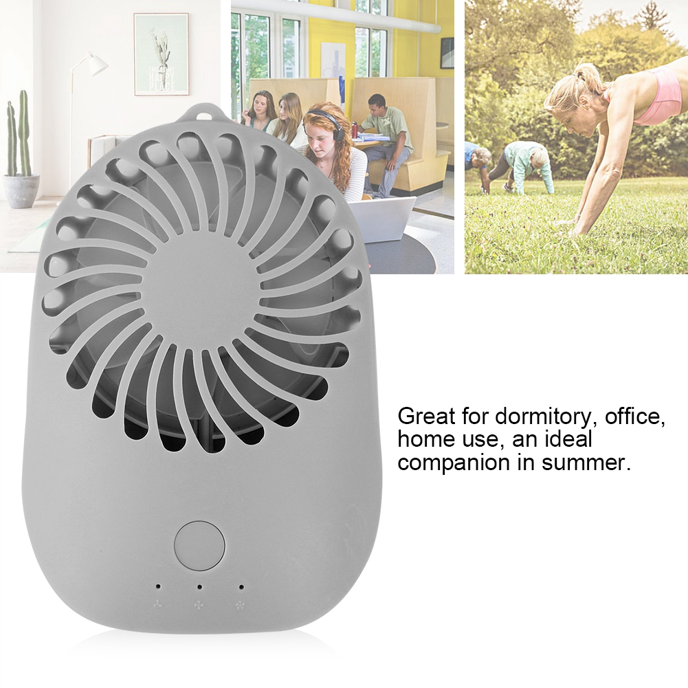 Lv. life Mini USB 3 Speeds Rechargeable Portable Table Electric Handheld Fan for Office Summer, Mini Table Fan, 3 Speeds Rechargeable Fan
