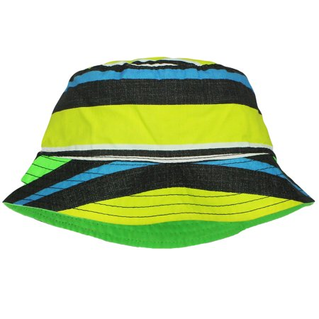 OshKosh Toddler Sun Hats for Boys Reversible Stripe / Solid Bucket Hat 2T-4T