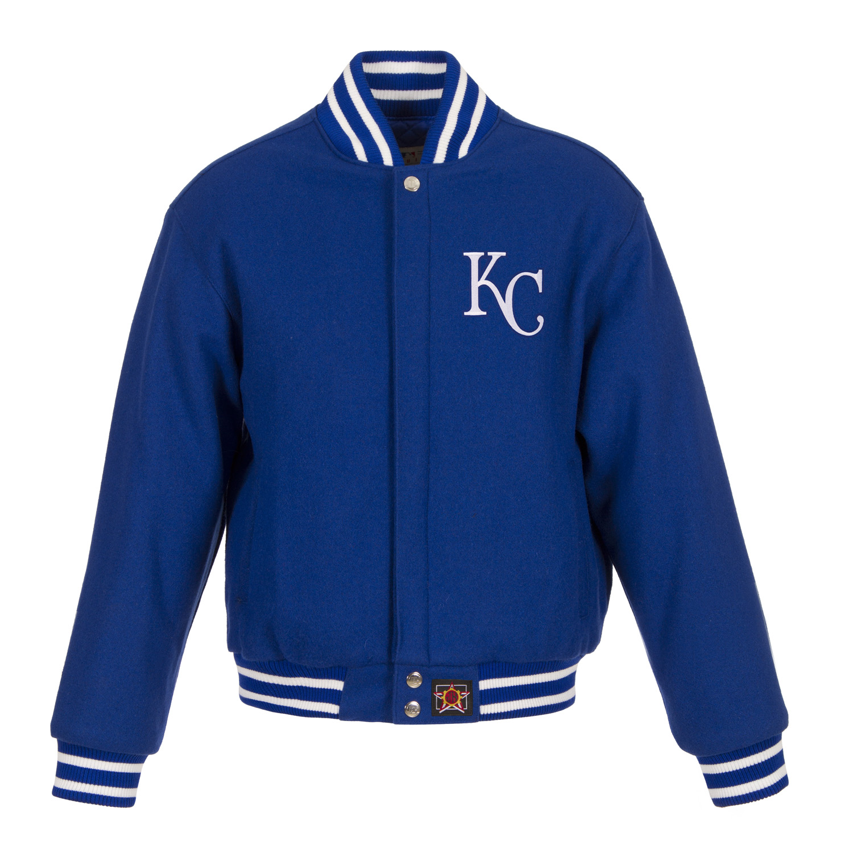 Kansas City Royals JH Design Women's Embroidered Logo All-Wool Jacket - Royal