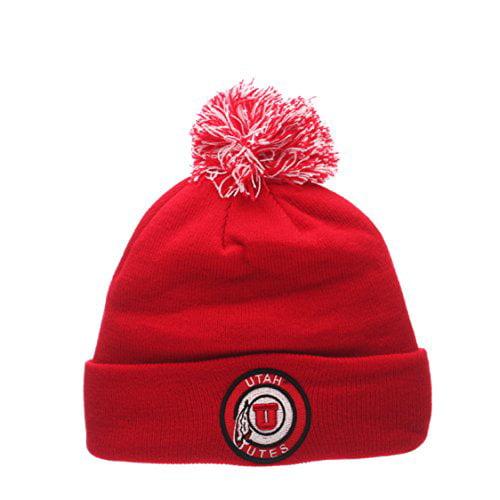 NCAA Cuffed Winter Knit Toque Cap Zephyr Cuff Beanie Hat with POM POM