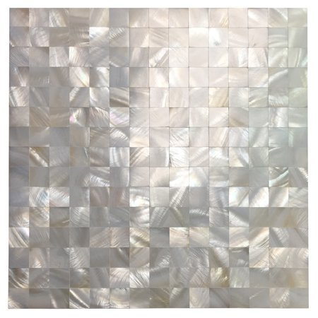 Art Mother Of Pearl Mosaic Tile For Kitchen Backsplashes Shower Walls Pool Colorful Subway Seamless White 1 Piece