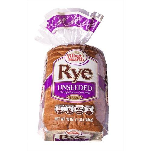 Village Hearth Rye Unseeded Bread, 16 oz