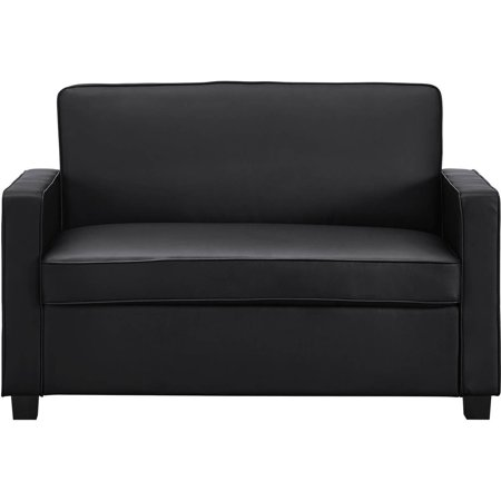 Siganture Sleep Casey 54 Quot Sleeper Loveseat Black Faux