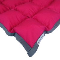 SensaCalm Raspberry w/ Volcanic Gray - Adult 18 lb Weighted Blanket