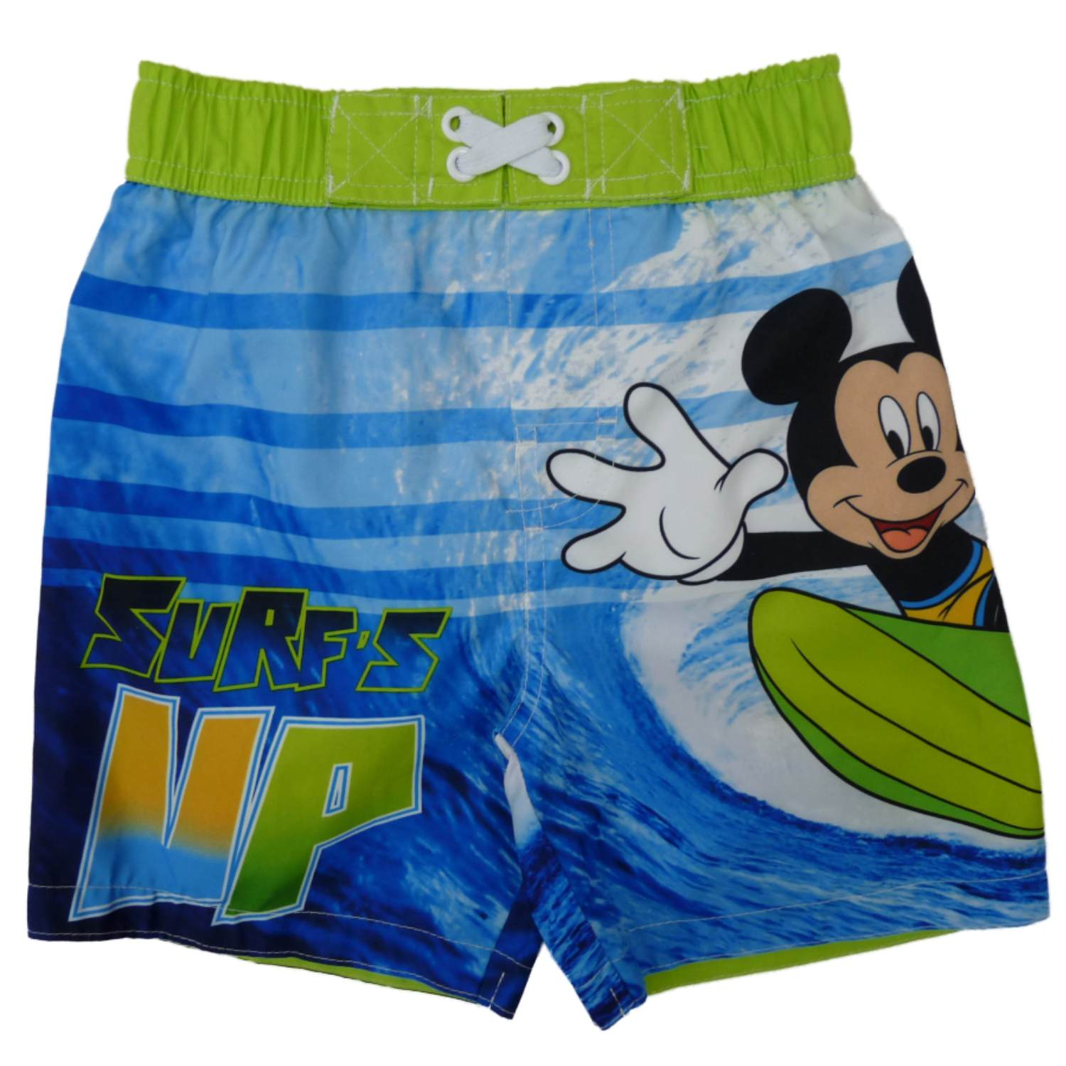 Disney Infant Boys Blue Mickey Mouse Swim Trunks Surf's Up Board Shorts